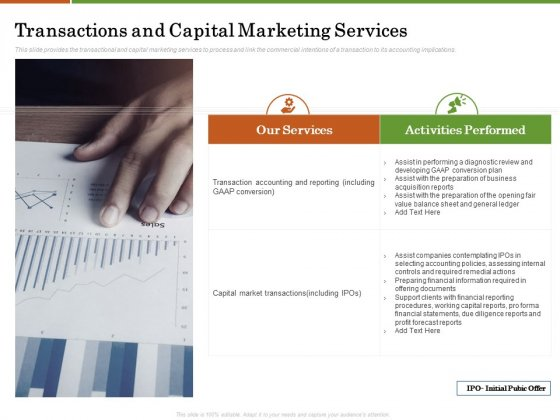 Accounting Advisory Services For Organization Transactions And Capital Marketing Services Information PDF