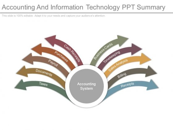 Accounting And Information Technology Ppt Summary