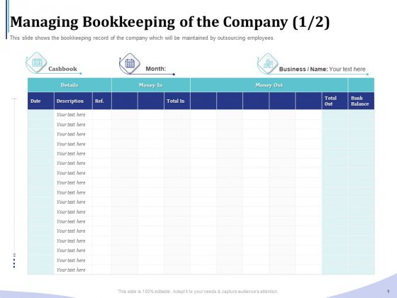 Accounting Bookkeeping Services Managing Bookkeeping Of The Company Month Slides PDF