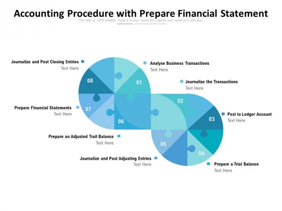 Accounting Procedure With Prepare Financial Statement Ppt PowerPoint Presentation Ideas Structure