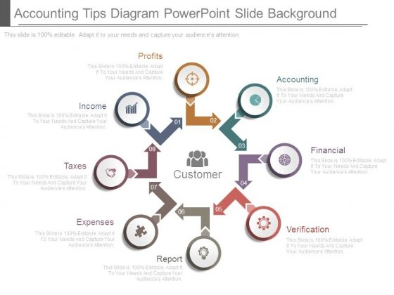 Accounting Tips Diagram Powerpoint Slide Background