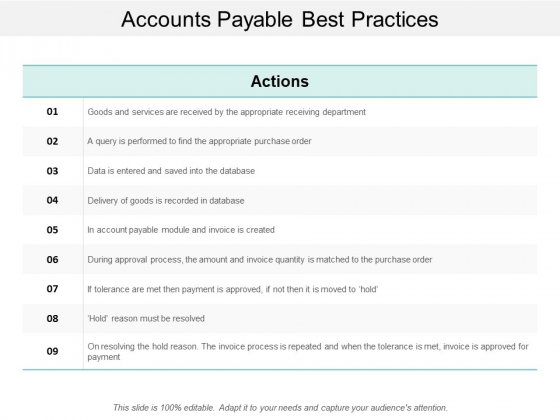 Accounts Payable Best Practices Ppt Powerpoint Presentation Styles Graphics Pictures