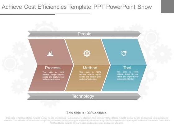 Achieve Cost Efficiencies Template Ppt Powerpoint Show