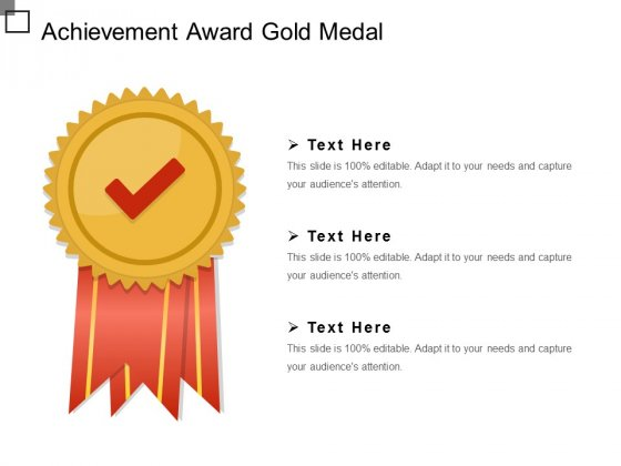 Achievement Award Gold Medal Ppt PowerPoint Presentation Layouts Example Introduction