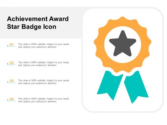 Achievement Award Star Badge Icon Ppt PowerPoint Presentation Gallery Styles