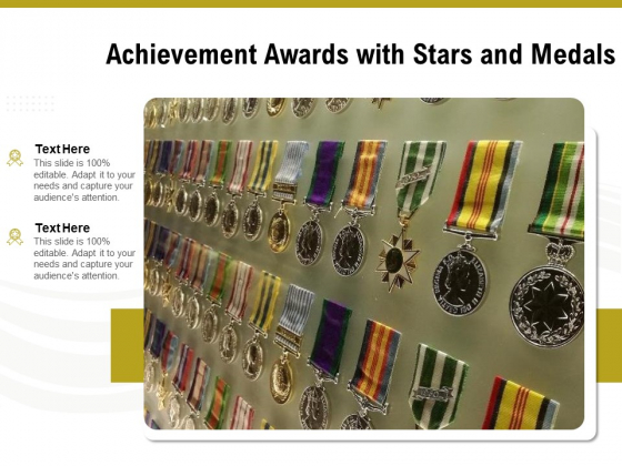 Achievement Awards With Stars And Medals Ppt PowerPoint Presentation Professional Example PDF