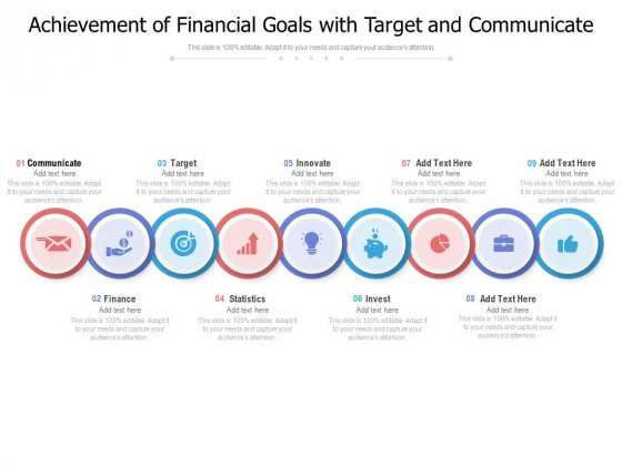 Achievement Of Financial Goals With Target And Communicate Ppt PowerPoint Presentation Model Sample PDF