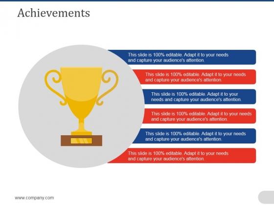 Achievements Ppt PowerPoint Presentation Gallery Graphics Download
