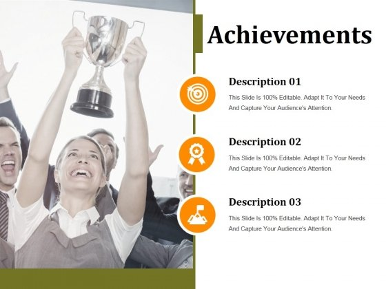 Achievements Ppt PowerPoint Presentation Ideas Graphics