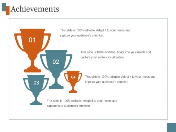 Achievements Template 1 Ppt PowerPoint Presentation Examples