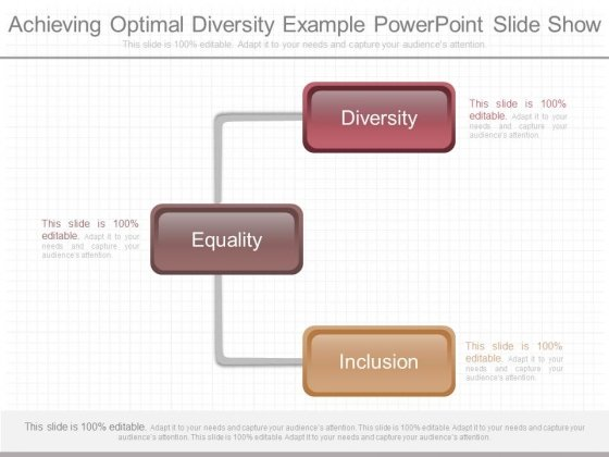 Achieving Optimal Diversity Example Powerpoint Slide Show