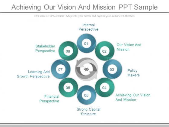 Achieving Our Vision And Mission Ppt Sample