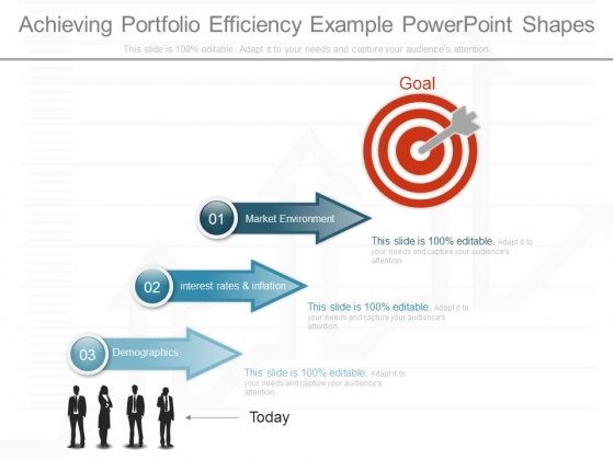 Achieving Portfolio Efficiency Example Powerpoint Shapes