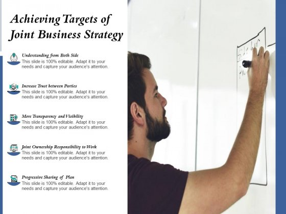 Achieving Targets Of Joint Business Strategy Ppt PowerPoint Presentation Icon Professional PDF