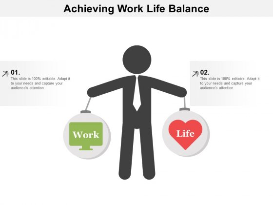 Achieving Work Life Balance Ppt Powerpoint Presentation Summary Inspiration