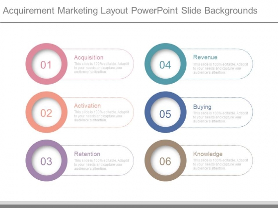 Acquirement Marketing Layout Powerpoint Slide Backgrounds