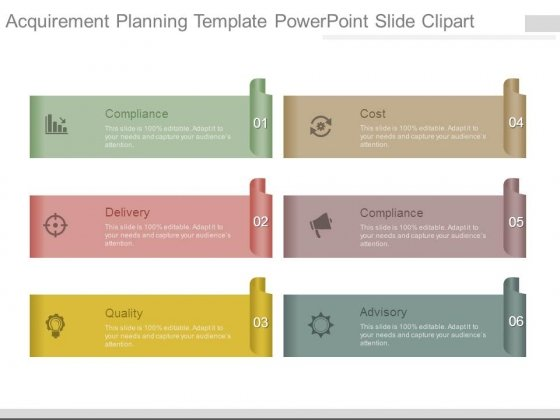 Acquirement Planning Template Powerpoint Slide Clipart