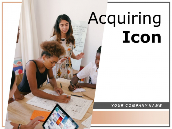 Acquiring Icon Document Calendar Idea Ppt PowerPoint Presentation Complete Deck