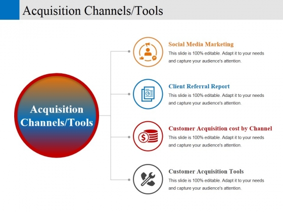 acquisition channels tools ppt powerpoint presentation portfolio diagrams