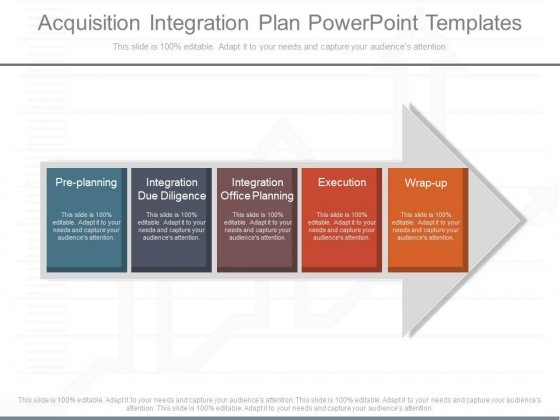 Acquisition Integration Plan Powerpoint Templates