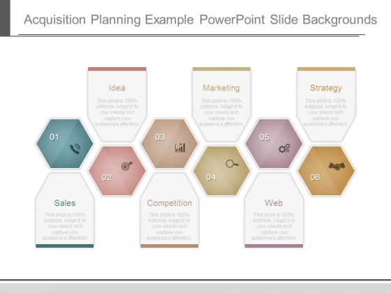 Acquisition Planning Example Powerpoint Slide Backgrounds