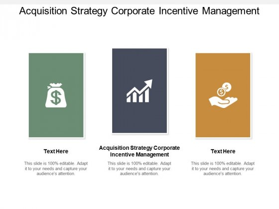 Acquisition Strategy Corporate Incentive Management Ppt PowerPoint Presentation Gallery Infographic Template Cpb