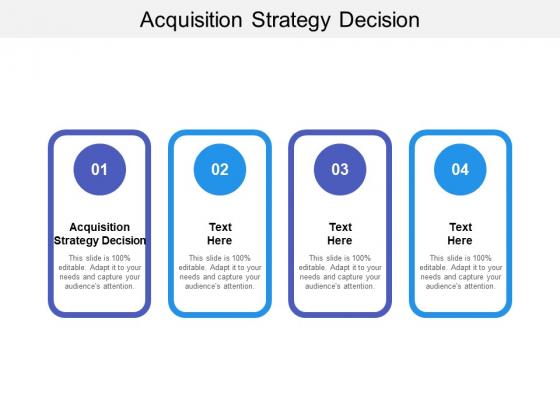 Acquisition Strategy Decision Ppt PowerPoint Presentation Portfolio Slide Download Cpb