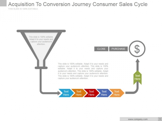 Acquisition To Conversion Journey Consumer Sales Cycle Ppt PowerPoint Presentation Infographics