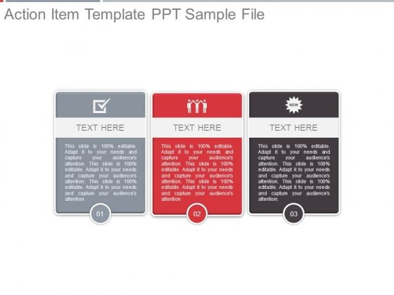 action item template ppt sample file powerpoint templates