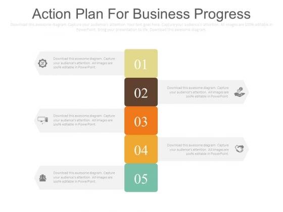 Action Plan For Business Progress Ppt Slides