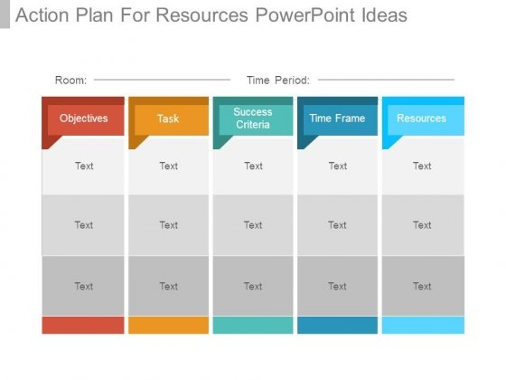 Action Plan For Resources Powerpoint Ideas