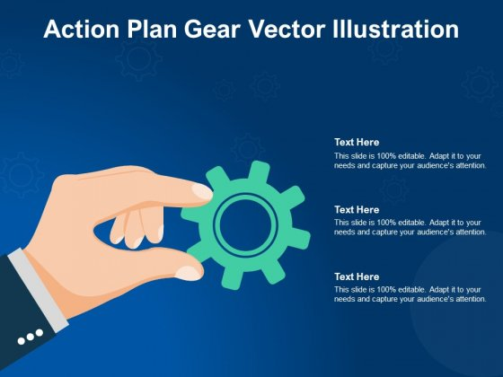 Action Plan Gear Vector Illustration Ppt PowerPoint Presentation Gallery Ideas
