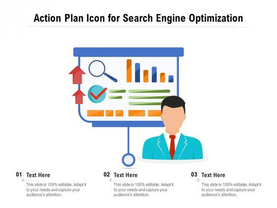 Action Plan Icon For Search Engine Optimization Ppt PowerPoint Presentation Pictures Influencers PDF