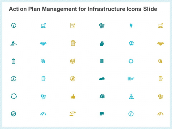 Action Plan Management Infrastructure Icons Slide Ppt Gallery Shapes PDF