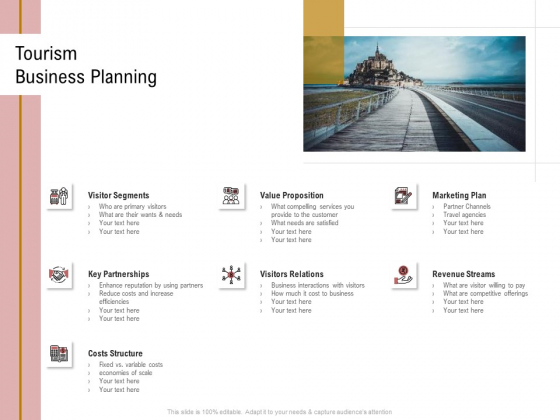 Action Plan Or Hospitality Industry Tourism Business Planning Diagrams PDF