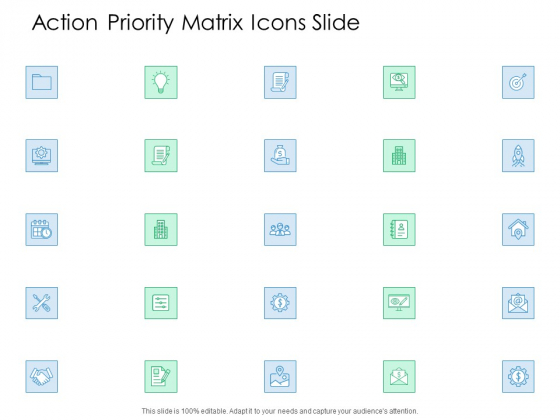 Action Priority Matrix Icons Slide Ppt Infographic Template Graphics Tutorials PDF