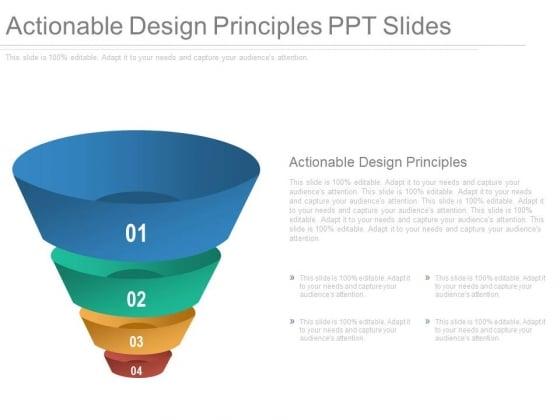 Actionable Design Principles Ppt Slides