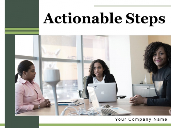 Actionable Steps Pyramid Circle Ppt PowerPoint Presentation Complete Deck