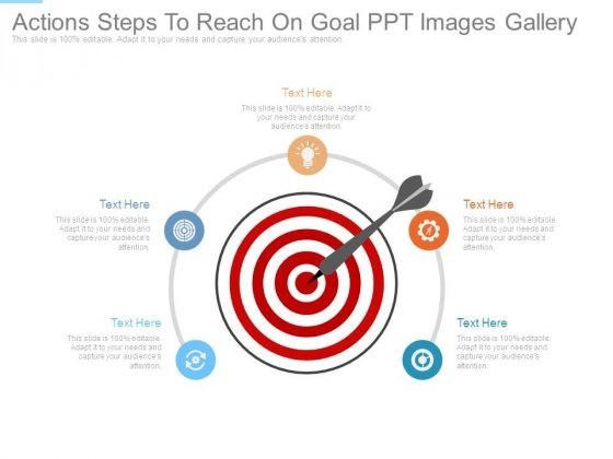 Actions Steps To Reach On Goal Ppt Images Gallery