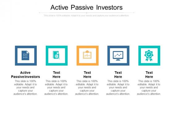 Active Passive Investors Ppt PowerPoint Presentation Summary Infographics Cpb Pdf