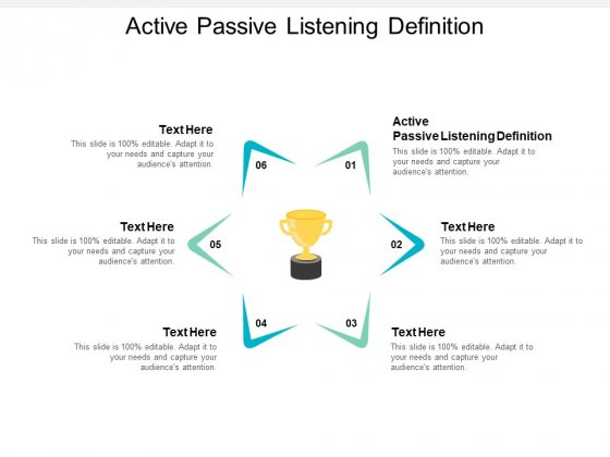 Active Passive Listening Definition Ppt PowerPoint Presentation Portfolio Skills Cpb