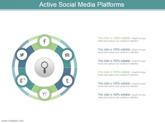 Active Social Media Platforms Sample Of Ppt Presentation