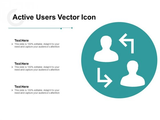 Active Users Vector Icon Ppt PowerPoint Presentation Professional Background
