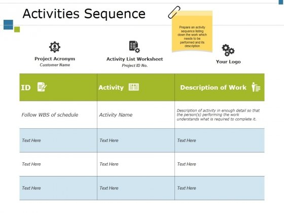 Activities Sequence Ppt PowerPoint Presentation Styles Graphic Tips