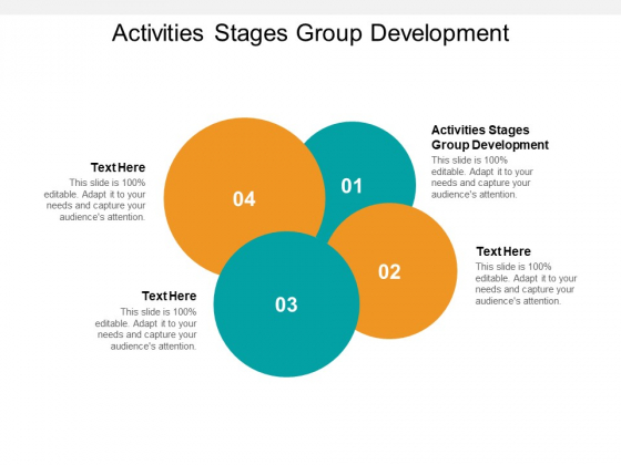 Activities Stages Group Development Ppt PowerPoint Presentation Model Outfit Cpb