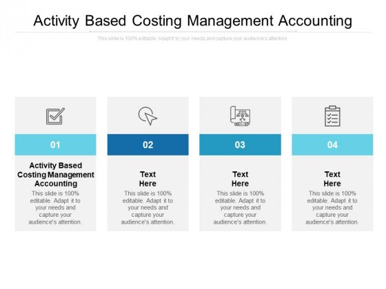 Activity Based Costing Management Accounting Ppt PowerPoint Presentation Summary Guide Cpb