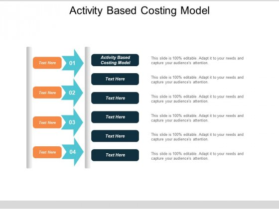 Activity Based Costing Model Ppt Powerpoint Presentation Model Mockup Cpb