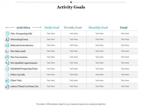 Activity Goals Ppt PowerPoint Presentation Styles Backgrounds