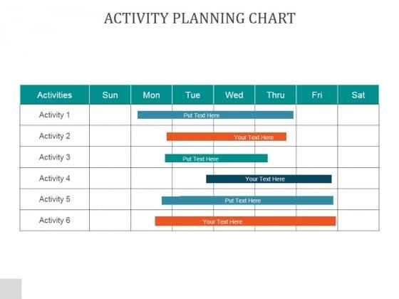 Activity Planning Chart Ppt PowerPoint Presentation Designs