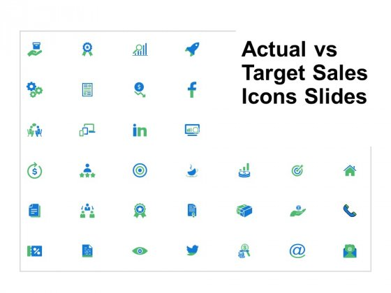 Actual Vs Target Sales Icons Slides Ppt PowerPoint Presentation Outline Background Image